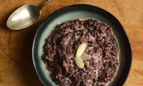 Riz noir au lait d'amande