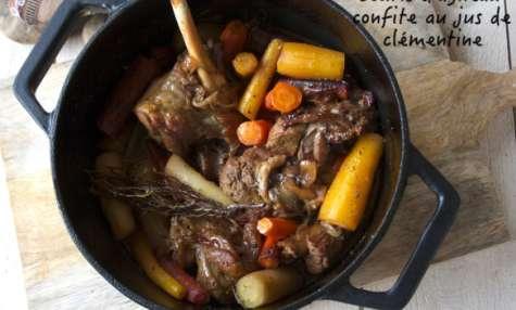 Souris d'agneau confites et carottes au jus de clémentine
