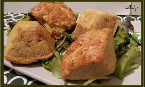 Muffins au jambon et Cheddar