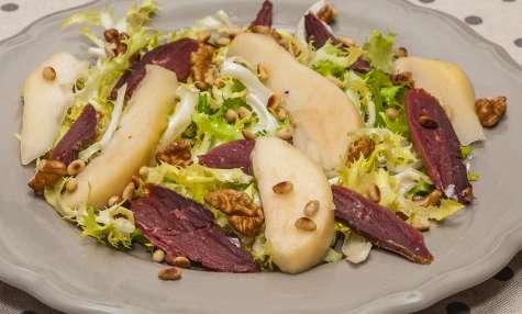 Salade de magret séché aux poires