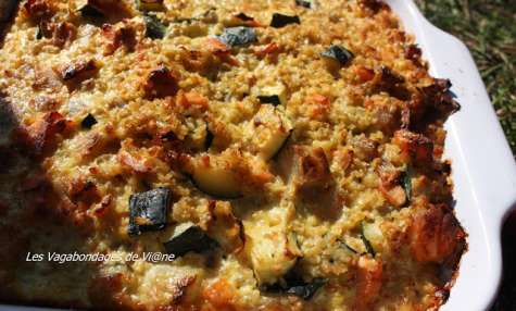 Gratin quinoa-saumon-courgette