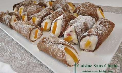 Cannoli Siciliani aux fruits confits