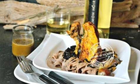 Pintade au vin jaune aux champignons