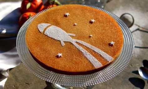 Cake mandarine spatiale
