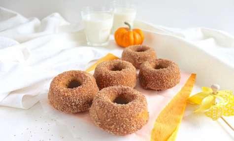 Donuts potiron et cannelle cuits au four