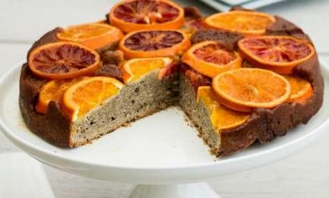 Gâteau renversé au sarrasin et amande à l'orange