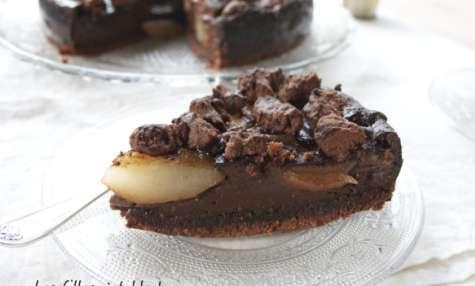 Gâteau pâtissier chocolat et poires