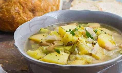 La soupe poireau pommes de terre