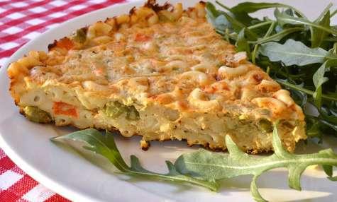 Frittata de pâtes aux légumes