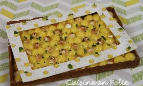 Tarte citron-basilic