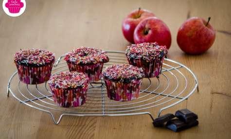 Muffins au chocolat et à la compote de pommes - sans beurre