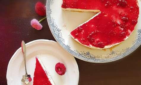 Cheesecake - framboise au yaourt de brebis sans cuisson