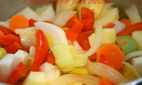Légumes d'hiver façon couscous