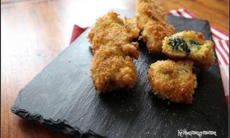 Croquettes de mozzarella aux épinards