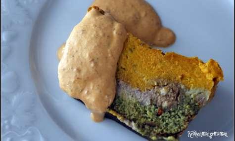 Terrine de mousse de légumes tricolore