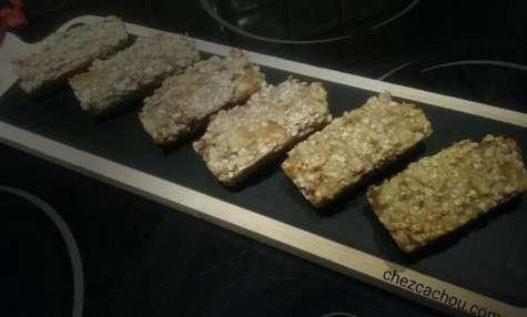 Gâteaux aux flocons d'avoine et compotée d'abricots