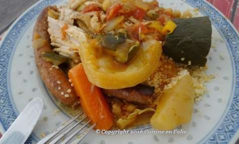 Couscous poulet et merguez de Boukari