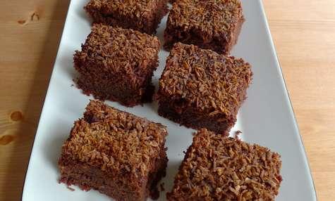 Fondant au chocolat et au lait de coco facile et rapide
