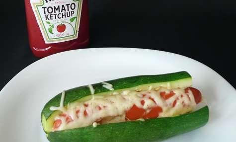 Hot-dog de courgette