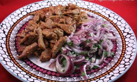 Foie aux oignons à l'Albanaise