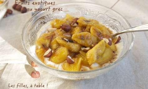 Fruits exotiques au yaourt grec