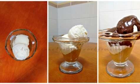 Coupe de cupuaçu amazonien (glace et compote) et chocolat noir