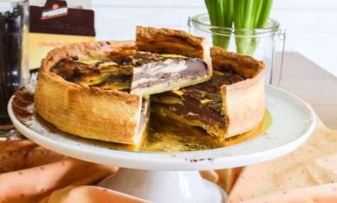 Flan pâtissier marbré, vanille & chocolat