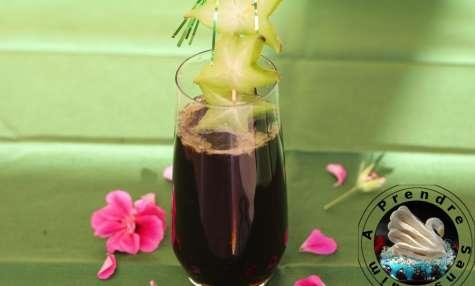Cocktail coca fraise citron
