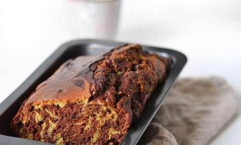 Cake Marbré chocolat matcha