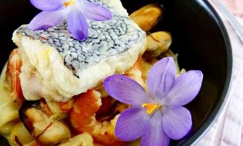 Cassolette de la mer au safran