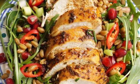 Palestinian chicken & freekeh salad