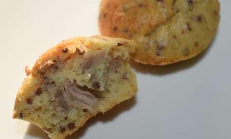 Mini cake au thon et moutarde à l'ancienne