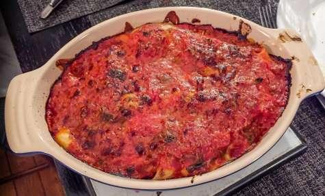 Gratin de scorsonères Béchamel et tomate