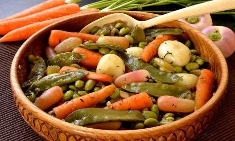 Poêlée de légumes de printemps