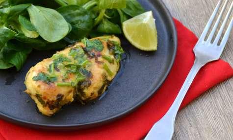 Poulet mariné coriandre et citron vert
