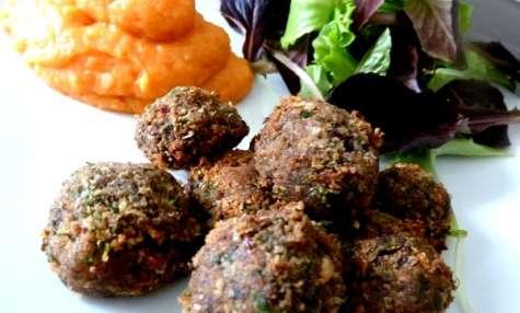 Falafels aux légumineuses et graines de lin