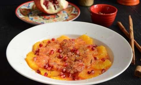 Salade d'oranges et grenade à la cannelle