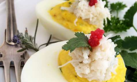 "Oeufs mimosas ""de la mer"""