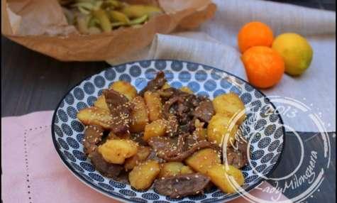 Canard sauté aux agrumes et aux pommes de terre