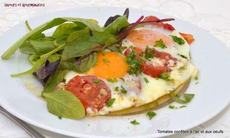 Tomates confites à l'ail et aux œufs à la mode de chez moi