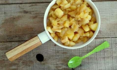 Pommes compotées au sirop d'érable