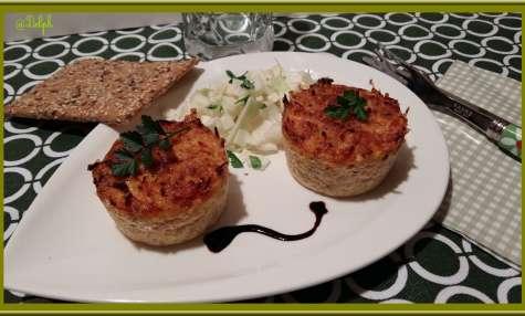 Flan de Quinoa, carottes, et jambon fumé