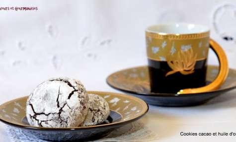 Cookies au cacao et huile d'olive