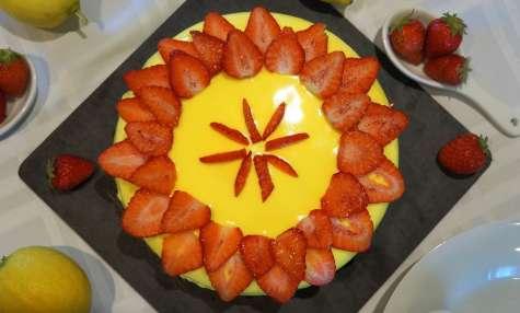 Entremet citrons et fraises