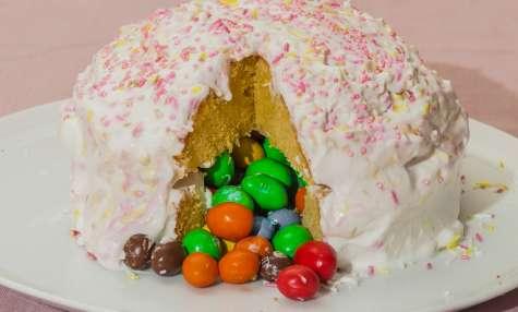Gâteau fourré aux M&M's