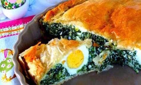 Torta pasqualina ou tourte pascale italienne