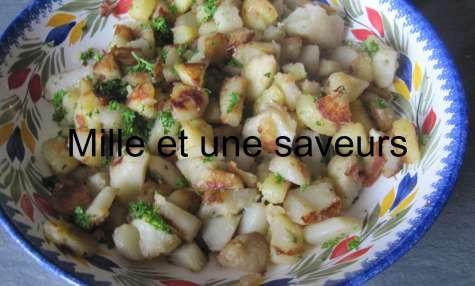 Poêlée de topinambours et pommes de terre