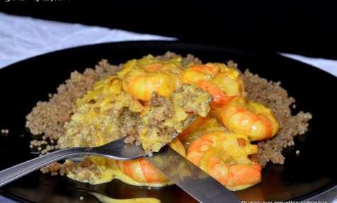 Quinoa graine complète aux crevettes safranées
