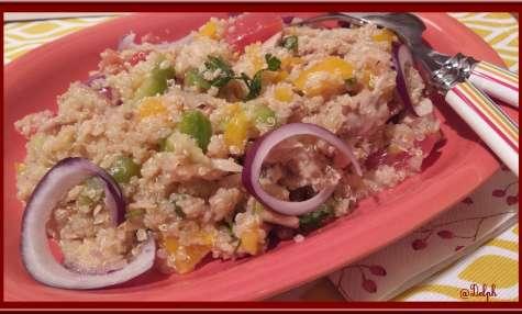 Salade de Quinoa aux légumes et thon