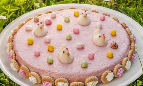 Mousse aux framboises de Pâques